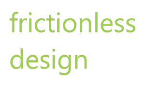 frictionless design logo