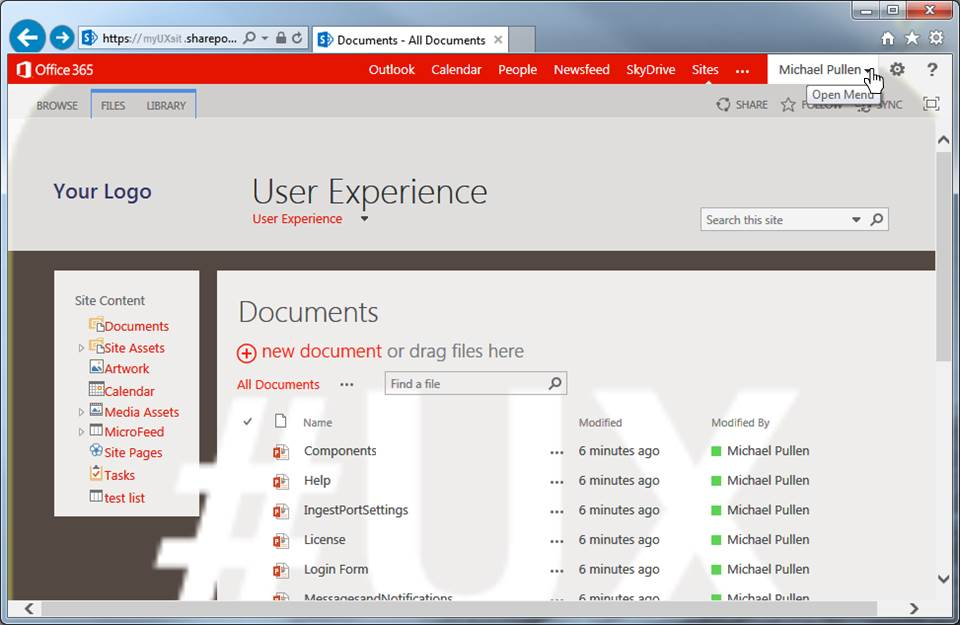 Sharepoint Logged In User